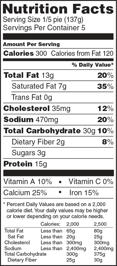 Nutrition Facts Pepperoni Mickeys Pizza